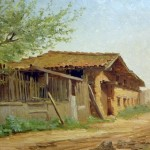Granary, Alice Brown Chittenden, oil on board, 1889