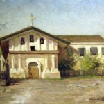 Mission Dolores, Alice Brown Chittenden, oil on board, 1889