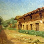 Old Granary, Alice Brown Chittenden, oil on board, 1888