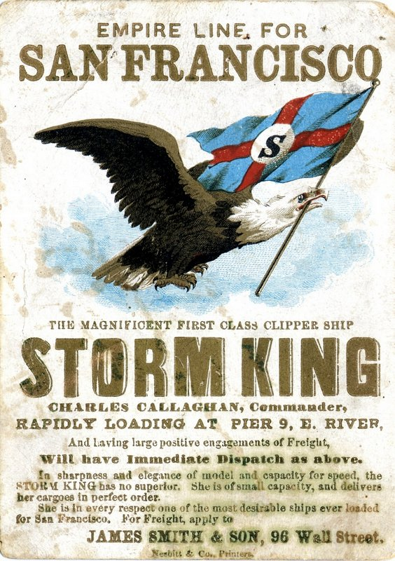 C057501 Storm king ships' card