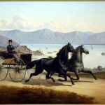 William Ralston Driving His Two-Horse Buggy, Thomas Hill, oil on canvas (C001040)