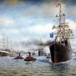 San Francisco Bay (Troops Departing) 1898, William Alexander Coulter, oil on canvas, 1898 (C001058)