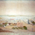 San Francisco, Spring, 1850 / From the Head of Clay Street, George Henry Burgess, watercolor, 1850