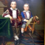 Sigmund Stern as a Young Boy with his Brother Abraham, Charles Christian Nahl, oil on canvas, 1862 (C001150)
