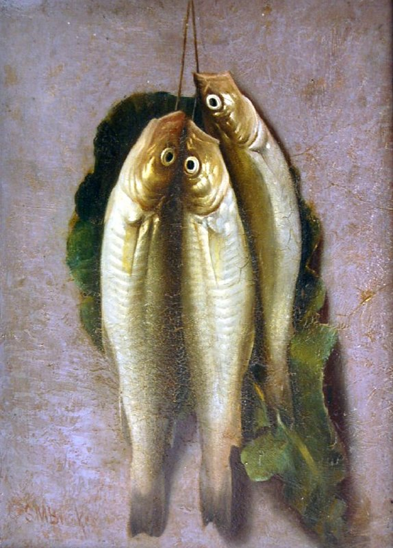 Smelts, Samuel Marsden Brookes, oil on board