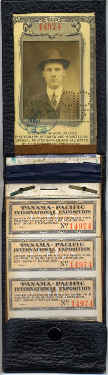 Admission book from the Panama Pacific International Exposition