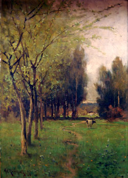Alfred C. Rodriguez (1862-1890). Spring,  Alameda, 1888. Oil on canvas. McCarthy  Collection. The Society of California Pioneers.