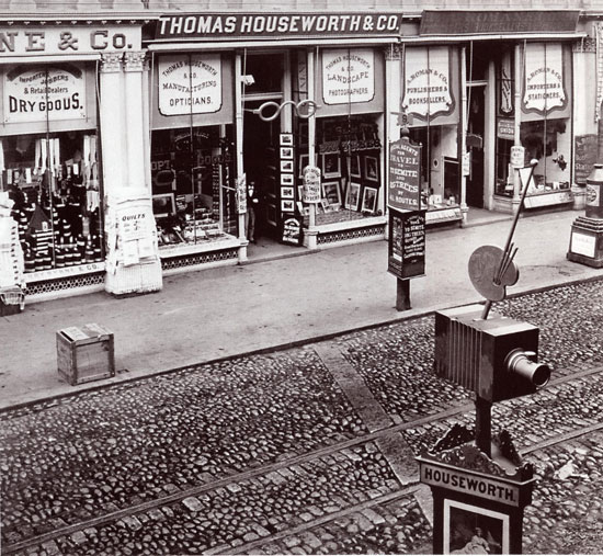 Storefront of Thomas Houseworth & Co. c. 1873-1874