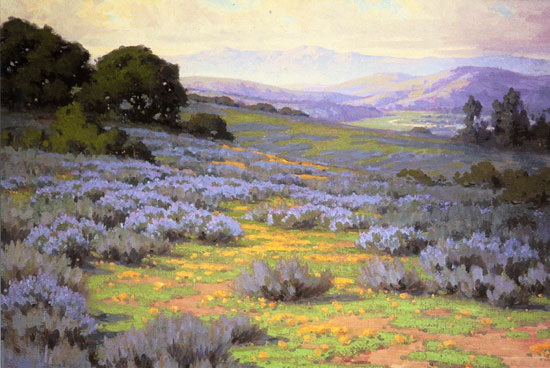 John Gamble, Santa Barbara Landscape, from the Irvine Collection