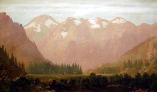 Edwin Deakin, Sunrise, Squaw Valley, 1871. Oil on canvas.  Purchased by The Society of California Pioneers.