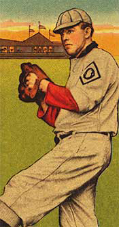 1910 Oakland Oaks Obak Baseball Card Print, relief with halftone, color, 1910. The Benjamin K. Edwards Collection; Library of Congress Prints and Photographs Division, Washington, D.C.