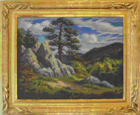 Stanislaus Poray, Landscape, c. 1920 oil on  canvas; courtesy of Russell D. Keil Jr.